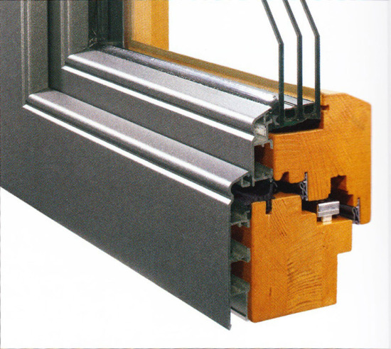 Profilierung Holz & Aluminium / Bautiefen 84 & 96 mm flächenversetzt mit Kontur