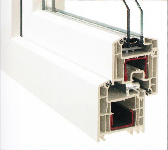 Profilierung Kunststoff / mit GFK-Profilkern / Bautiefe 70 mm