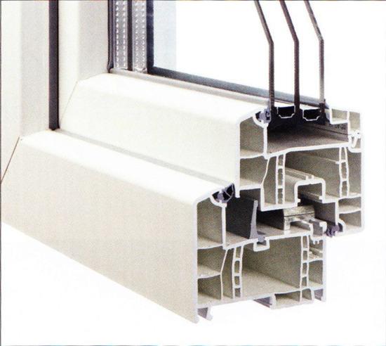 Profilierung Kunststoff / Bautiefe 80 mm / flächenversetzt