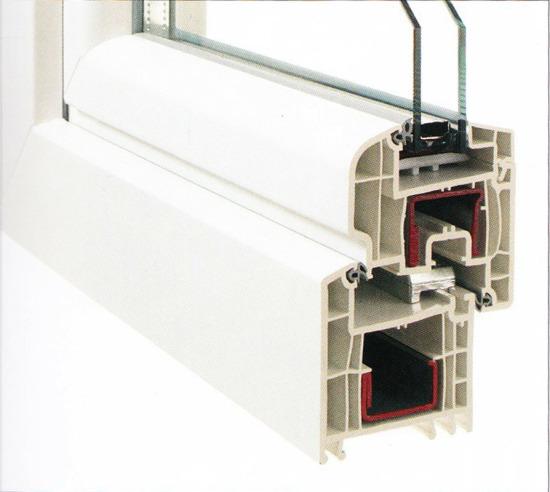 Profilierung Kunststoff / Bautiefe 70 mm / abgerundeter Designflügel