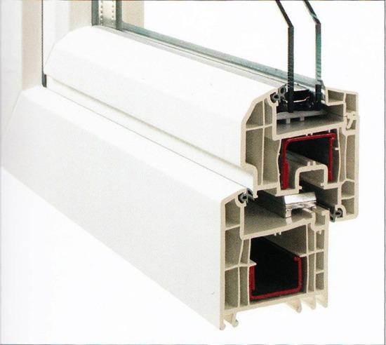 Profilierung Kunststoff / Bautiefe 70 mm / abgeschrägter Designflügel